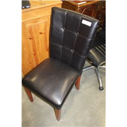 NEW LEATHER BUTTON BACK MODERN DINING CHAIR