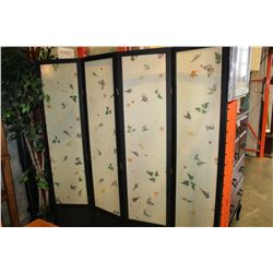EASTERN FOUR PANEL ROOM DIVIDER AND THREE PANEL DIVIDER