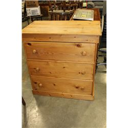 PINE THREE DRAWER DRESSER