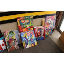 LOT OF OIL PAINTINGS ON BOARD
