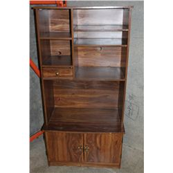 OAK 2 PIECE STORAGE CABINET