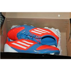 AS NEW ADIDAS SIZE 11 CLEATS