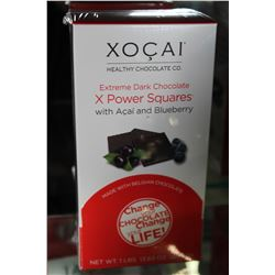 XOCAI EXTREME DARK CHOCOLATE X POWER SQUARES WITH ACAI AND BLUEBERRY