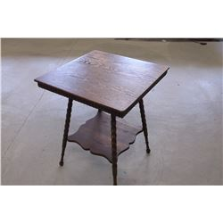 "Oak Parlor Table- 30""H X 23.5'W"