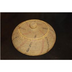 "Tightly Woven SW Basket With lid- 11""W X 4""H"