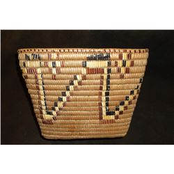 "Museum Quality Imbricated Basket-  Vancouver Isle Region- 8"" H X 11""W X 8""D"
