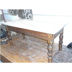 "Marble Top Table- 20"" H X 43"" L X 20""W"