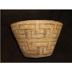 "Large Pima Basket- Excellent Condition- 7.5""H X 12.5""W"