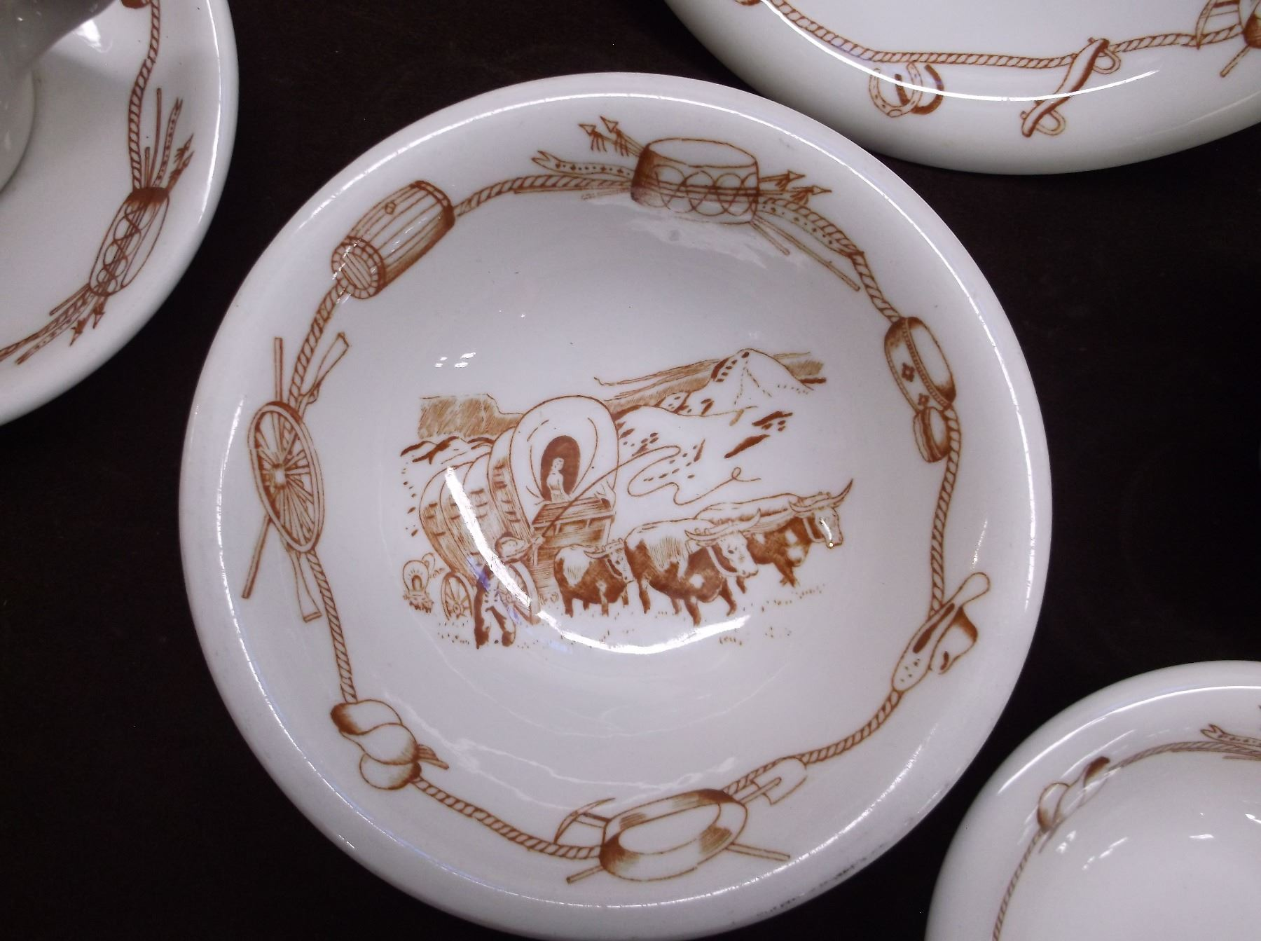... Image 2  This is a Used Western Dinnerware Set from Harolds Club in Reno- ... & This is a Used Western Dinnerware Set from Harolds Club in Reno- It ...