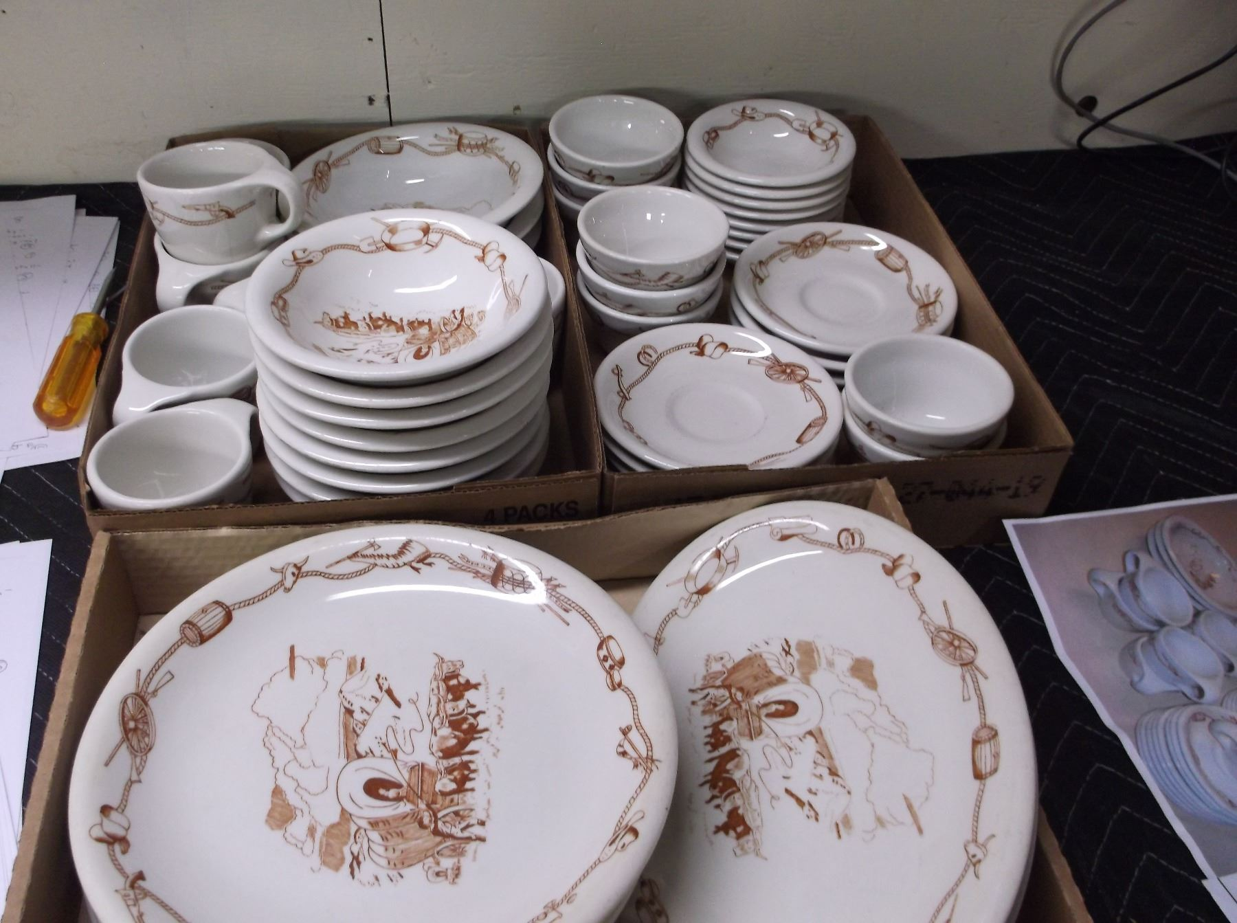 ... Image 5  This is a Used Western Dinnerware Set from Harolds Club in Reno- & This is a Used Western Dinnerware Set from Harolds Club in Reno- It ...