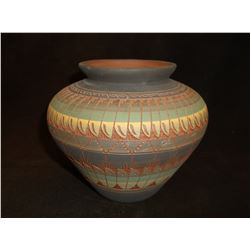"Navajo Pot- Signed Billy Dennison-96- 5.5""H X 6""W"