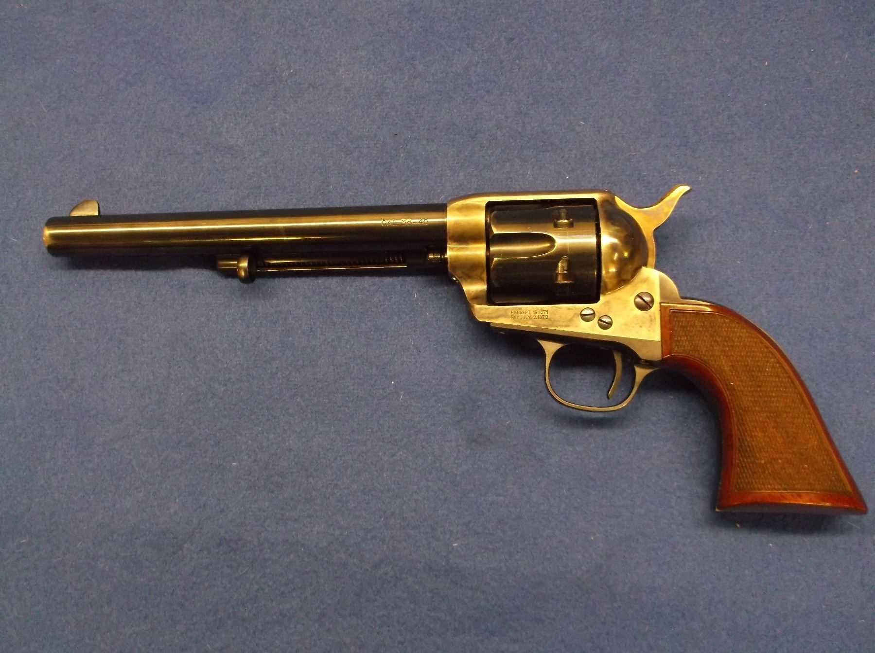 Cimarron revolver 38 40 made in italy 75 barrel checkered image 1 cimarron revolver 38 40 made in italy 75 altavistaventures Images