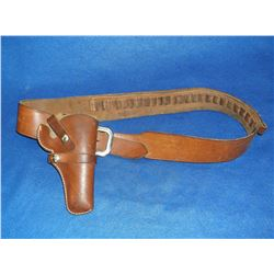 Gun Belt and Holster- .44 Caliber Loops- Bianchi Buckle