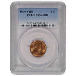 1909 VDB Lincoln Cent PCGS MS64RD