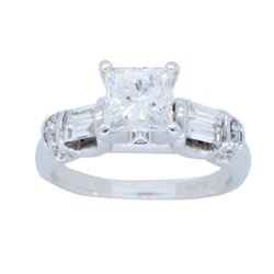 14KT White Gold 0.97ctw Diamond Ring