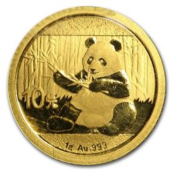 2017 China Panda 1 Gram Gold Coin