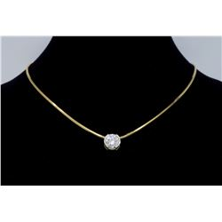 14KT Yellow Gold 1.25ct Diamond Pendant with Chain