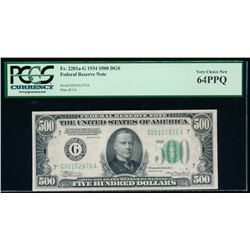 1934 $500 Chicago Federal Reserve Note PCGS 64PPQ