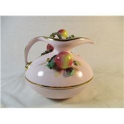 Vintage Victorian Geo Z Lefton China 1956 Fruit Peach Covered Candy Dish