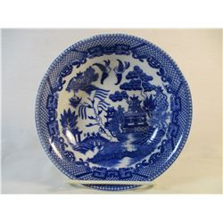 Occupied Japan Blue Willow Bowl