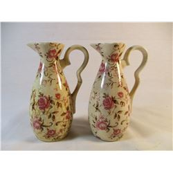 Vintage Nasco Cruet Rose Garden Set