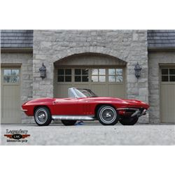 1:00PM SATURDAY FEATURE 1965 CHEVROLET CORVETTE ROADSTER 1 OWNER 50000 ORIGINAL MILES