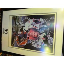 WAYNE GRETZKY AUTOGRAPHED PRINT 802 BY DANNY DAY #266