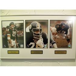 6 FRAMED NFL LEGENDS PICTURES NFL AUTHENTICATED NUMBERED PRINTS