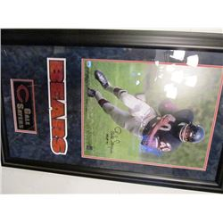 GALE SAYERS CHICAGO BEARS NFL SIGNED FRAMED PICTURE