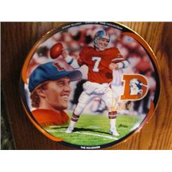 2 NFL COLLECTOR PLATES JOHN ELWAY AND SUPER BOWL IV