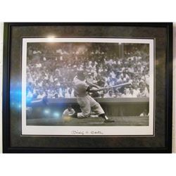 AUTOGRAPHED MICKEY MANTLE FRAMED MLB PRINT
