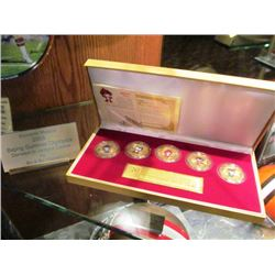 MICKEY MANTLE BRONZE COIN/BEIJING SUMMER OLYMPICS 2008 COIN COLLECTION