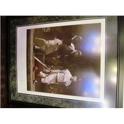 FRAMED MLB PRINTS - ROGER MARRIS/BARRY BONDS AND BASEBALL COAT OF ARMS