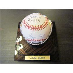 AUTOGRAPHED MLB RAWLINGS BASEBALL - OZZIE SMITH