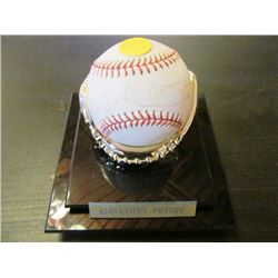 AUTOGRAPHED MLB BASEBALL - GAYLORD PERRY