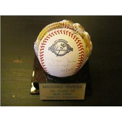AUTOGRAPHED MLB BASEBALL - MARIANO RIVERA 100 YRS OF NY YANKEES BASEBALL