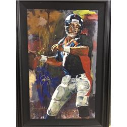 LIMITED EDITION STEPHEN HOLLAND PAINTING - SIGNED JOHN ELWAY