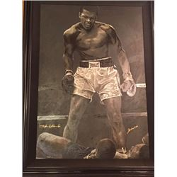LIMITED EDITION STEPHEN HOLLAND PAINTING - SIGNED MUHAMMAD ALI