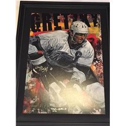 LIMITED EDITION STEPHEN HOLLAND PAINTING - SIGNED WAYNE GRETZKY KINGS