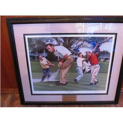 LIMITED EDITION ARNOLD PALMER PAINTING - KING IN AUGUSTA ALLAN F. ZUNIGA