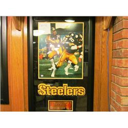 TERRY BRADSHAW SIGNED AUTHENTICATED FRAMED PHOTO STEELERS
