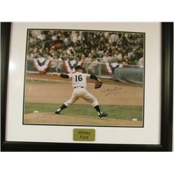 WHITEY FORD SIGNED FRAMED PICTURE