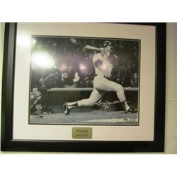 REGGIE JACKSON SIGNED WORLD SERIES PRINT