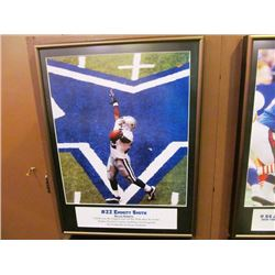 NFL GREATS 4 FRAMED PICTURES - EMMITT SMITH/JIM BURT  JOE MONTANA/ DWIGHT CLARK/DALLAS COWBOYS CHEER