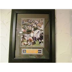 SPORTS GREATEST FRAMED PICTURES - ADRIAN PETERSON/DON DRYSDALE/MARIANO RIVERA/JOHN ELWAY/TROY AIKMAN