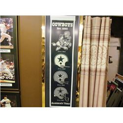 DALLAS COWBOYS FRAMED PENNANT