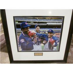 NY METS SIGNED PICTURE - DOC GOODEN/DARRYL STRAWBERRY/MIKE TYSON