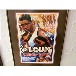 SPIRIT OF JOE LOUIS FRAMED POSTER