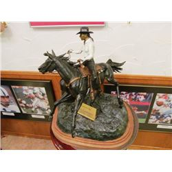 ROSS CONTWAY SCULPTURES - BARREL RACER, SADDLE BRONC RIDER