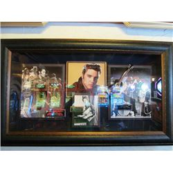 FRAMED ELVIS PRESLEY PICTURE WITH PRISCILLA PRESLEY